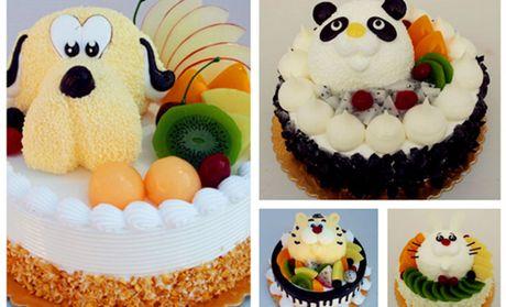 价值208元的动物造型水果蛋糕1个