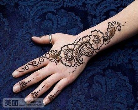 印度海娜手绘纹绣